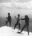men on mountain top