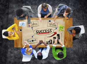 People meeting for success